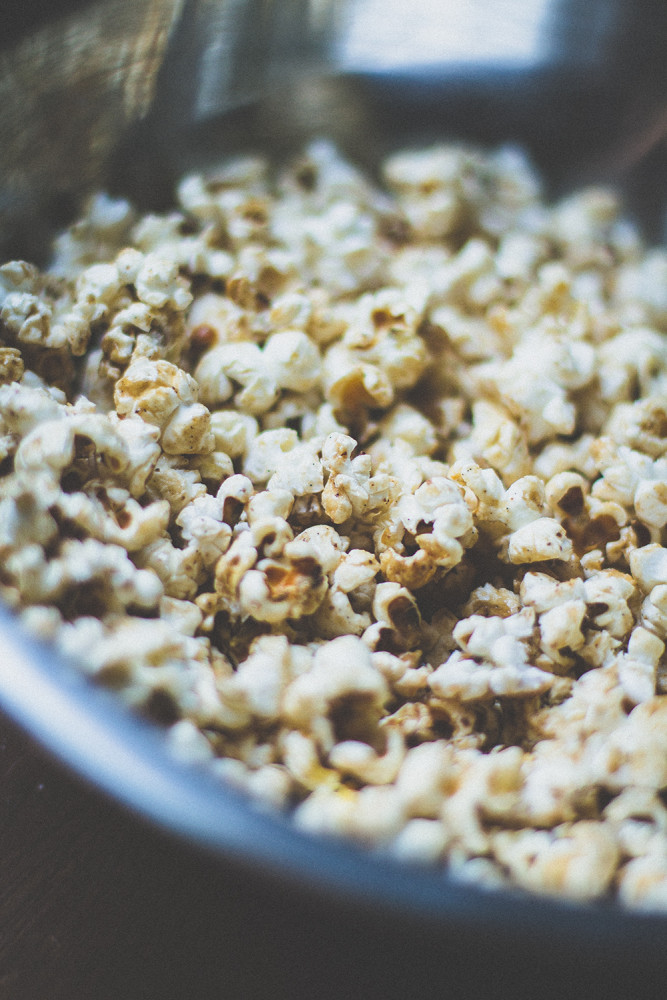 Karamelliga popcorn